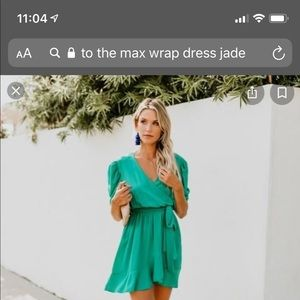 Vici to the max wrap dress in green/jade size XS